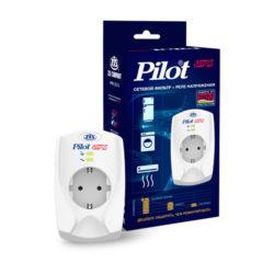 Сетевой фильтр + реле напряжения Pilot SINGLE